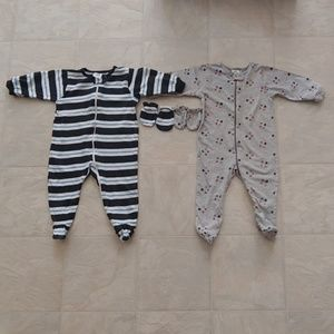 2 Infant  footies